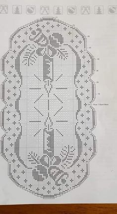 Crochet Doily Rug, Crochet Books, Thread Crochet, Crochet Stitches, Crochet Christmas Ornaments, Christmas Crochet Patterns, Holiday Crochet, Cross Stitch Designs, Cross Stitch Patterns
