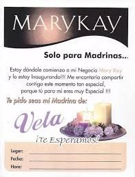 Resultado de imagen para invitaciones para madrinas mary kay