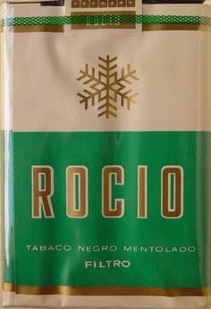 Carteles antiguos de publicidad-Cigarrillos rocio