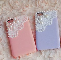 #love#want#phonecase#cute#lace#pearls  For more visit http://fashion-sketches.net