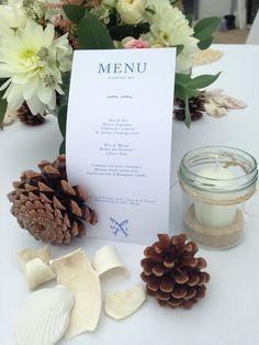 #wedding #mariage #menu #beachwedding