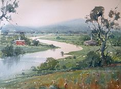 Beautiful landscape by Dusan Djukaric, one of the truly great impressionist watercolorists of our time. His atmospheric paintings are dripping with emotion...