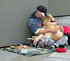 Photos : l'amour inconditionnel entre des sans-abris et leurs chiens