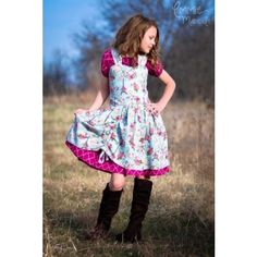 Poppy's Tween Peekaboo Dress PDF sewing Pattern