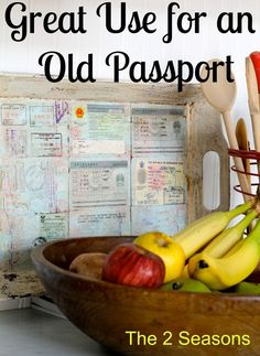 Great use for an old passport, Make a Passport Tray.  Love this and it is special.