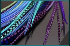 Custom Feather Extensions Hot Mix Long Hair Feathers Salon Approved Pinks QTY12 Cool Blues Boho Summer Hair Trends. $16.05, via Etsy.