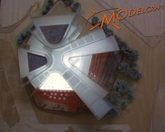 1:300 Timber & Acrylic Architectural Model by Modelcraft (NSW) Pty Ltd - 05043
