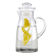 Infuser Pitcher. Great for infusing water with lemon or refreshing cucumber and mint.