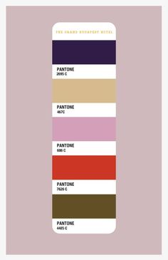Entre Hermanas: Colors for my room - The Grand Budapest Hotel