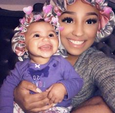 Hopefully me and Future daughter! Baby Momma, Mom And Baby, Mommy And Me, Baby Kids, Lil Baby, Cute Family, Baby Family, Family Goals, Cute Black Babies