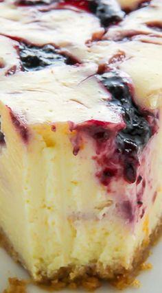 Lemon Blueberry Swirl Cheesecake                                                                                                                                                     More