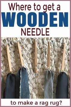 Where to get a wooden needle to make a rag rug — Day to Day Adventures Rag Rug Diy, Diy Rugs, Toothbrush Rug, Homemade Rugs, Braided Rag Rugs, Rag Rug Tutorial, Girls Dollhouse, Diy Braids, Woven Rug
