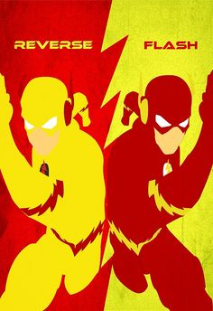 Reverse Flash VS Flash Minimalist by TheMinimalist