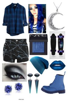 """Untitled #104"" by davinaespinosa ❤ liked on Polyvore featuring Yves Saint Laurent, Carolina Glamour Collection, NARS Cosmetics, Dr. Martens, Lime Crime and Glitzy Rocks"
