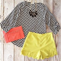 New Scalloped Shorts – gallery. boutique