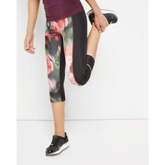 Ted Baker Cropped Printed Leggings Khaki (£105) ❤ liked on Polyvore featuring khaki and ted baker