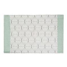 Teppich, grau/grün, 60 x 90cm, ELUA                                                                                                                                                                                 Mehr