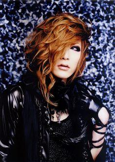 Uruha, guitarist of the visual kei band, GazettE. He is as skilled as he is beautiful.