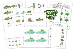 A preschool learning pack for preschoolers with games and activities that contains early learning printables to use when studying about Pond life, frogs and more. Includes: pond words, beginning sounds, counting, sorting activities and Free Preschool, Preschool Themes, Preschool Printables, Preschool Lessons, Preschool Learning, Toddler Preschool, Class Activities, Language Activities, Teaching Science