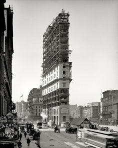 "#New_York circa 1903. ""New York Times building under construction. #Manhattan #Hotel http://VIPsAccess.com/luxury-hotels-manhattan-ny.html"