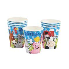 Farm 1st Birthday Cups