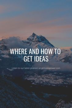 Business and inspiration tips,Where and how to get ideas? Princess Power, 19 Kids, Stay At Home Mom, Be Your Own Boss, Healthy Living, Parenting, Author, How To Get, Passion