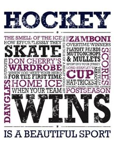 Hockey is a beautiful sport