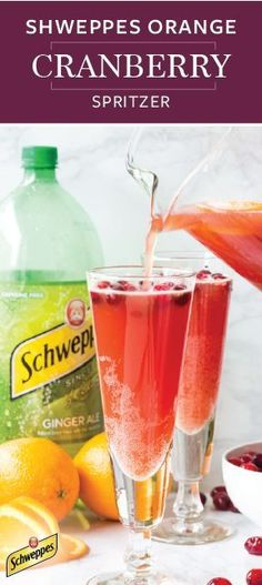 What's the essential ingredient for creating the perfect festive holiday drink you ask? Schweppes Ginger Ale of course! See it work its magic in this recipe for an Schweppes Orange Cranberry Spritzer. Pick up all the ingredients and essentials you need at Walmart to prove that kid-friendly mocktails are anything but boring!
