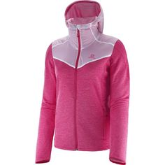 Veste Elevate de SALOMON/ SALOMON's Elevate Jacket Pink White, Hot Pink, Hooded Jacket, Sport, Hoodies, Sweaters, Jackets, Women, Fit