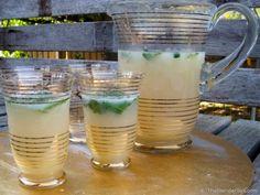 Vitamix Recipes. Homemade lemonade with whole lemons and ginger