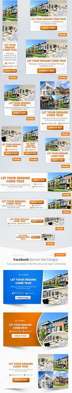Real Estate Web Banner Set is a high quality banner set, full layered and very easy to edit, unique design.