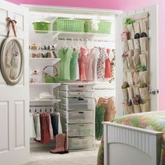 The Container Store > White elfa Girl's Reach-In Closet. for A.