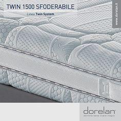 Twin 1500 Sfoderabile ti regalerà ogni notte un sostegno mai rigido e deliziosamente preciso, grazie all'innovativa tecnologia di molleggio Twin System by Dorelan.  #materassi #Dorelan #TwinSystem #dormirebene