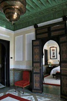 Moroccan style hallway