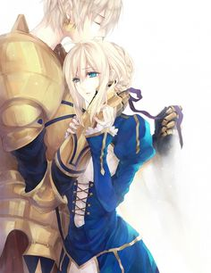 Gilgamesh & Saber | Fate Zero #manga  YES I love those two together :D :D o/////o