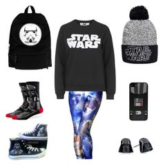 """The force is strong with this one..."" by docmartens-and-denim on Polyvore featuring Tee and Cake, Converse and Stance"