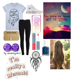 """""""Dreamcatcher"""" by icecreamgirl123 ❤ liked on Polyvore featuring Converse, claire's, Maybelline and Essie"""