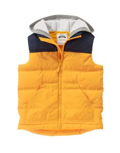 Hooded Puffer Vest at Gymboree
