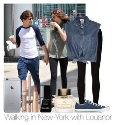 """""""Walking In New-York With Louanor"""" by hazzgirl03 ❤ liked on Polyvore featuring beauty, AG Adriano Goldschmied, Jean-Paul Gaultier, Converse, Chanel and Burberry"""