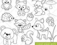 Sea Animals Digital Stamps Clipart par pixelpaperprints sur Etsy