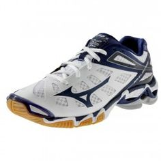 pretty nice ca094 99931 Mizuno Wave Lightning RX3 Womens Volleyball Shoe 430168.0051 White-Navy  Volleyball Sneakers, Volleyball Gear