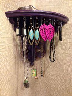 Upcycled Jewelry Organizing Display Corner Purple by KelkoDesign, $50.00