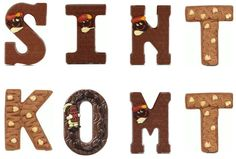 The first letter of your name in chocolate! Every child expects one when it is Sinterklaasfeest. And dark, milk, white or with hazelnuts, the bigger the better! Typical Dutch Food, Chocolate Letters, Holland Netherlands, Dutch Recipes, Hanukkah, Make It Simple, December, Symbols, Lettering