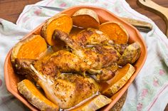 Roast Chicken & Sweet Potatoes - NutraPhoria School of Holistic Nutrition Whole Food Recipes, Diet Recipes, Cooking Recipes, Healthy Recipes, Comida Diy, Organic Recipes, Ethnic Recipes, Healthy Chicken Dinner, Pressure Cooker Recipes