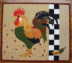 """I found Larry Leghorn Quilt Kit at Gail Kessler's LadyfingersSewing.com  20""""x17"""" #quilt #sewing #chickens"""