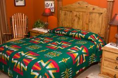 Get this southwestern queen size bed spread for $79.95 -Chimayo - Mission Del Rey Southwest