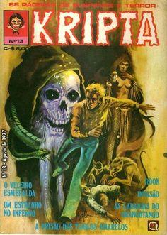 Revista Kripta #13 - RGE (1976) - Quadrinhos de terror, suspense, ficção e sobrenatural
