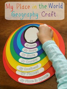 Place in the World Geography Craft for kids. My Place in the World Geography Craft for kids. Geography Activities, Geography For Kids, Geography Lessons, World Geography, Montessori Activities, Activities For Kids, Crafts For Kids, Geography Revision, Geography Classroom