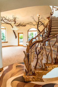 Best Ideas For Tree House Stairs Floors Rustic Staircase, Staircase Design, Flooring For Stairs, Celtic Tree Of Life, House Stairs, House Ladder, Stairway To Heaven, Stairways, My Dream Home
