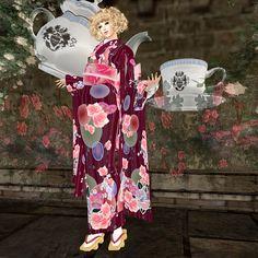 "hair: booN ""FNQ123 hair blonde""  kimono: Milky Kimono ""-Hanayoi Tamaki-RD""  zouri: =Beppu Sogetsudo= ""Yoshityo-sayagataFB2""  earrings: [Fairy Tail] ""Papillon gold""  nail: Candy Nail ""#Birth Stone Nails Opal *October""  pose: *agapee* ""kimono_F13"""